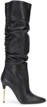 Tom Ford ruched calf high boots