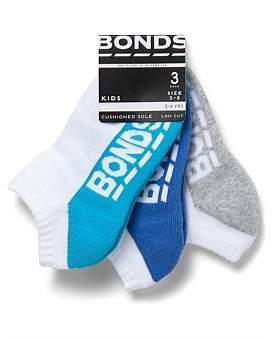 Bonds Logo Low Cut 3Pk