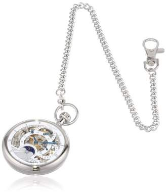 Charles Hubert 3816-W Dual Time Mechanical Pocket Watch