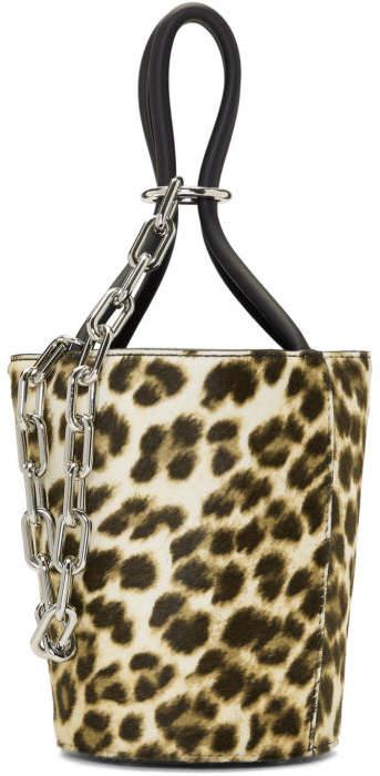 Alexander Wang Multicolor Leopard Mini Roxy Bucket Bag