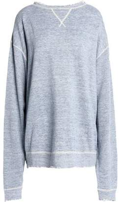 Clearance Prices Cheap Pay With Visa Woman Oversized Distressed Linen And Cotton-blend Sweatshirt Light Blue Size L R13 Cheap Very Cheap nLDO9SX5r