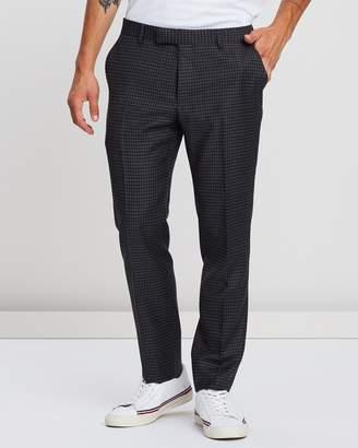 Ben Sherman British Crepe Weave Gingham Trousers