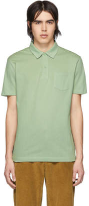 Sunspel Green Riviera Polo