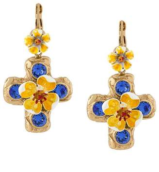 Dolce & Gabbana floral drop earrings