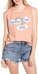 Junk Food Clothing Enjoyin' the Ride Sleeveless Cotton Tee