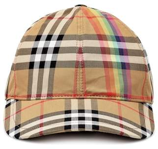 Burberry Rainbow Check cotton cap