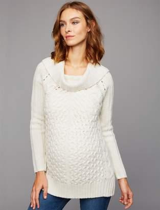 John & Jenn Pea Collection John + Jenn Cable Knit Maternity Sweater