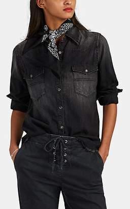 Nili Lotan Women's Travis Denim Western Shirt - Leonard Wash