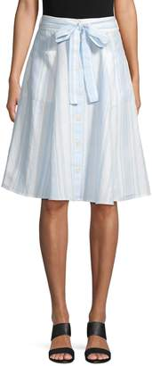 Saks Fifth Avenue Button Front Midi Skirt