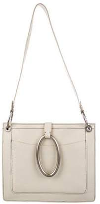 DKNY Contrast-Stitched Leather Shoulder Bag