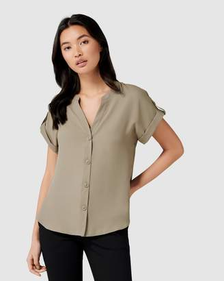 Forever New Eloise Button Front Top
