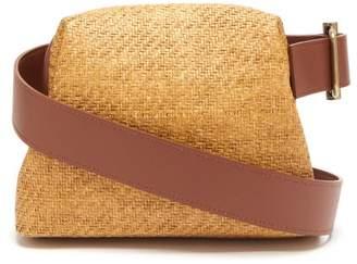 BEIGE Osoi - Brot Mini Raffia And Leather Cross Body Bag - Womens