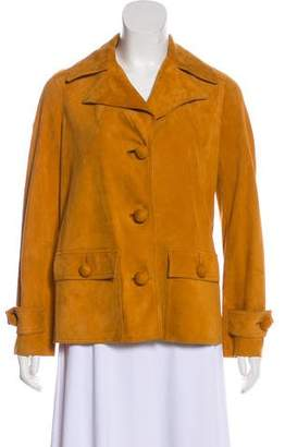 Tory Burch Notch-Collar Leather Jacket