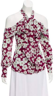 Alexis Silk Floral Print Top w/ Tags
