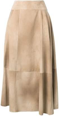 Bottega Veneta airbrush printed midi skirt