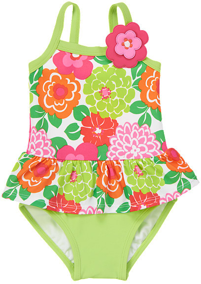 Gymboree Floral Ruffle One-Piece Swimsuit