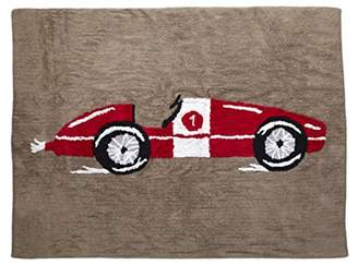 Camilla And Marc Aratextil Racing Car Rug, Cotton, Red, 120 x 160 x 30 cm