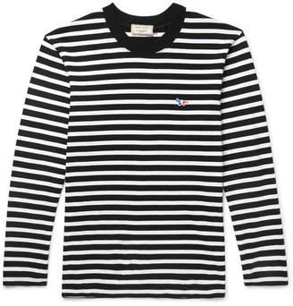 MAISON KITSUNÉ Striped Cotton-Jersey T-Shirt