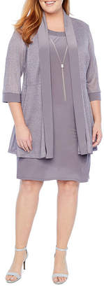 R & M Richards 3/4 Cuffed Sleeve Jacket Dress - Plus