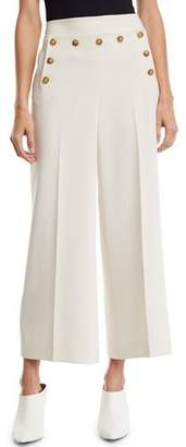 Tory Burch Crepe Cropped Sailor Pants