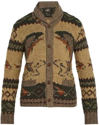 RRL Shawl-collar wool-blend cardigan