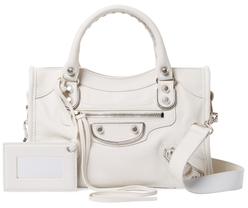 Balenciaga  Classic Metallic Edge City Mini Leather Satchel