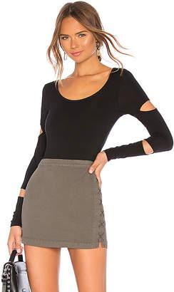 Chaser Long Sleeve Slit Bodysuit