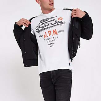 Superdry White vintage crew neck T-shirt