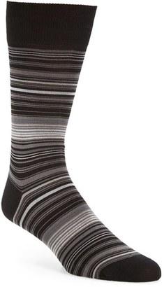 Men's Bugatchi 'Alternating Thin Stripe' Socks $19.95 thestylecure.com