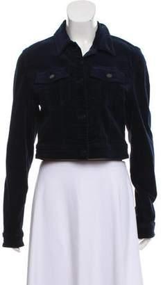 J Brand Velvet Button-Up Jacket