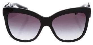 Dolce & Gabbana Laser Cut Cat-Eye Sunglasses