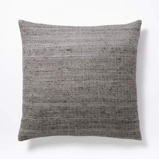west elm Woven Silk Pillow Cover - Iron
