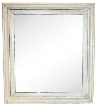 One Kings Lane Vintage Antique White Mirror - House of Charm Antiques