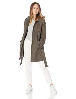 Calvin Klein Women's Cotton rain Coat with Gun Flaps at Chest