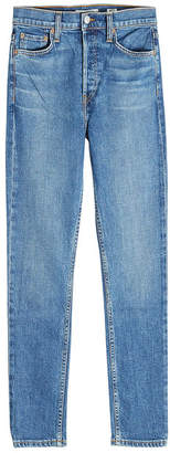 RE/DONE High Rise Ankle Crop Jeans in 190 Comfort Stretch Denim
