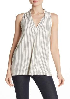 Max Studio Pleated V-Neck Tank