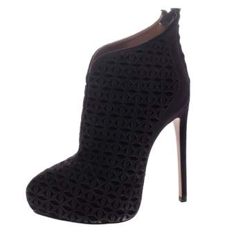 Alaia Purple Suede Boots