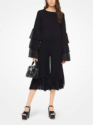 Michael Kors Ruffled Cotton Pullover