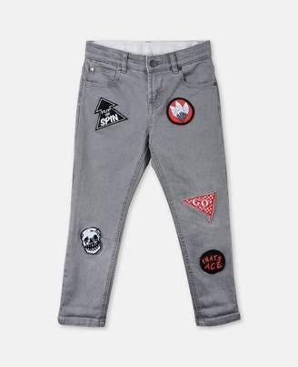Stella McCartney lohan badge jeans