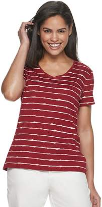 Croft & Barrow Petite Classic V-Neck Tee
