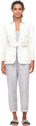 Rebecca Taylor La Vie Denim Belted Jacket