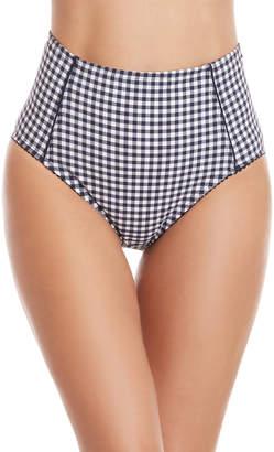 Kate Spade Gingham High-Waisted Bikini Bottom