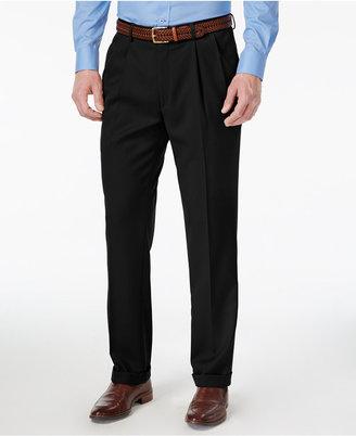 Louis Raphael Men's Straight-Fit Double-Pleated Dress Pants $85 thestylecure.com