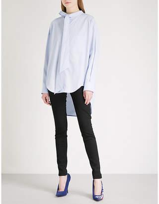 Balenciaga Swing logo-print cotton shirt