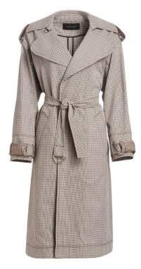 Cédric Charlier Check Trenchcoat