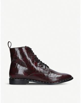 Kurt Geiger Tilda mock croc leather ankle boots