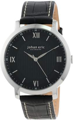 Johan Eric Men's JE1700-04-007 Koge Round Stainless Steel Genuine Leather Watch