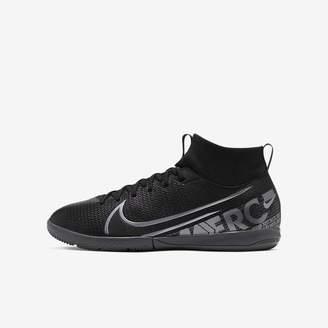 Nike Kids' Indoor/Court Soccer Shoe Jr. Mercurial Superfly 7 Academy IC