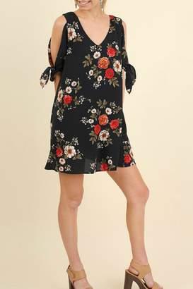 Umgee USA Floral Cutout Dress