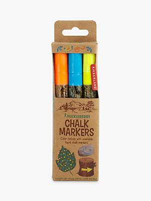 Kikkerland Huckleberry Chalk Markers, Set of 3